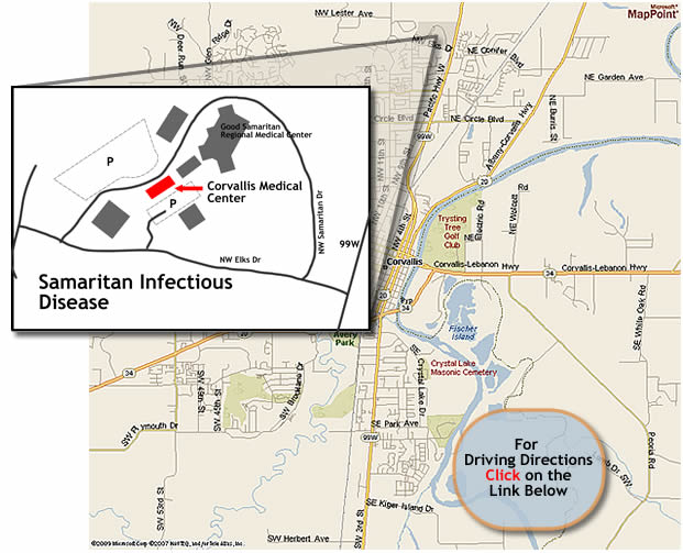 Location of Samaritan Infectious Disease
